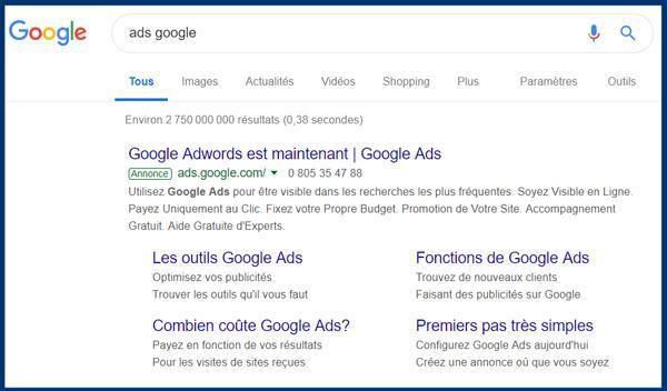 contrefaàon de marque dans une annonce Google Ads